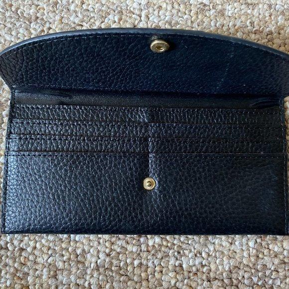 None Handbags - Black Leather Wallet